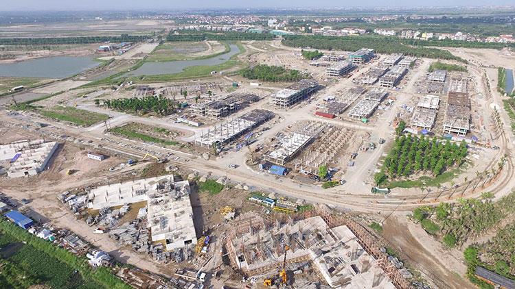 Ecopark đẩy mạnh đầu tư cơ sở hạ tầng cho phân khu Aqua Bay