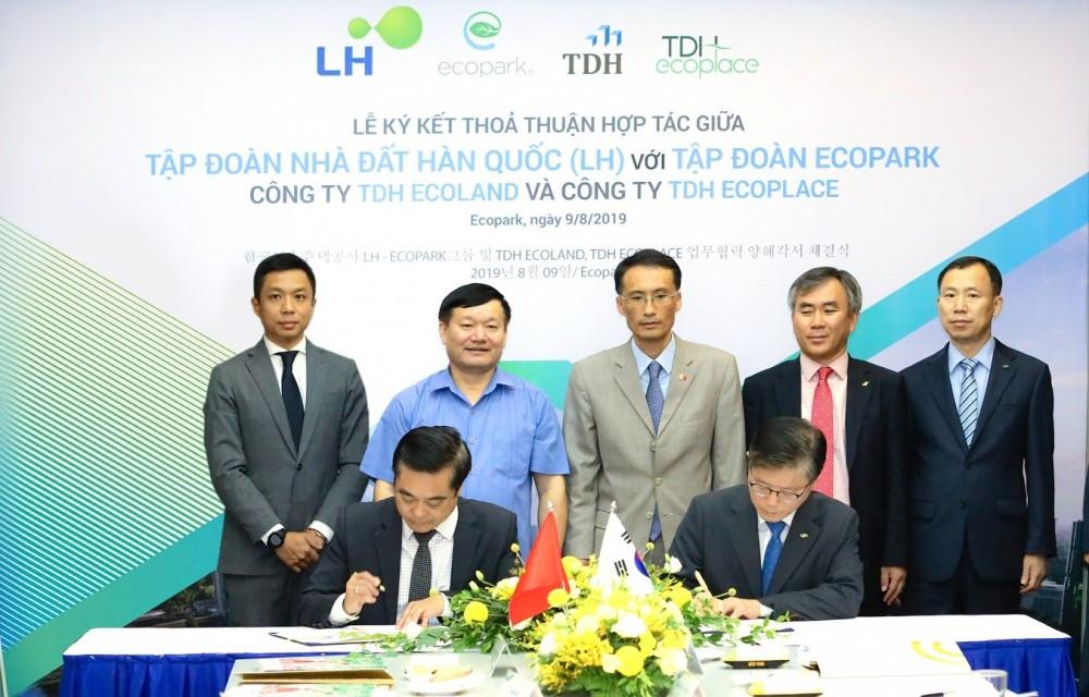 Ecopark bắt tay cùng Tập đoàn Nhà đất LH Hàn Quốc nghiên cứu quy hoạch và phát triển dự án khu công nghiệp sạch tại tỉnh Hưng Yên