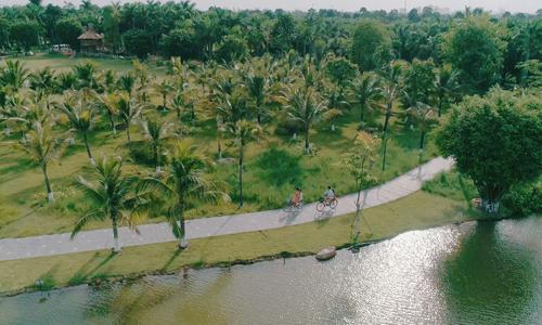 Không gian sống xanh tại biệt thự đảo Ecopark Grand - The Island