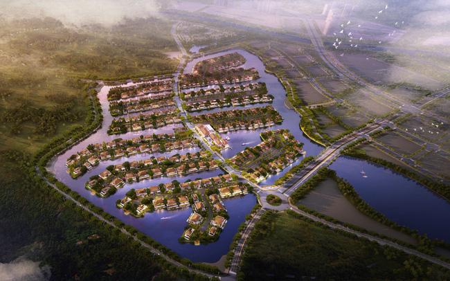 Biệt thự đảo Ecopark Grand gấp rút hoàn thiện bàn giao trước Tết