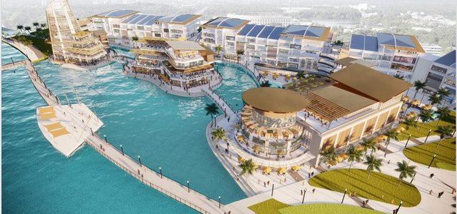 Triển khai đại trung tâm thương mại trên mặt nước tại Ecopark