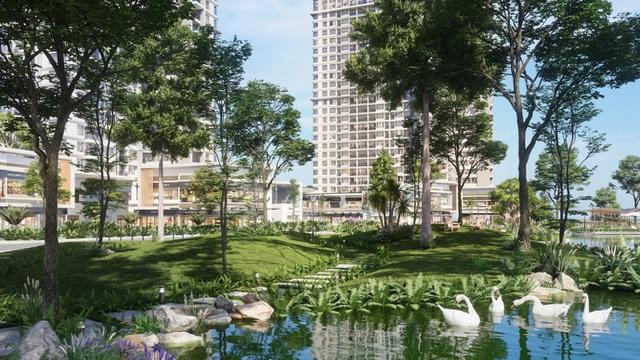 Ecopark chi nghìn tỷ làm công viên riêng biệt cho 2 tòa tháp thiên nhiên nhất khu đô thị - 9