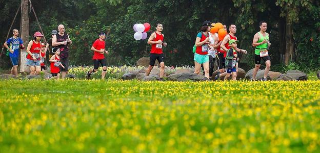 Cung đường chạy giữa thiên nhiên của Ecopark Marathon 2021