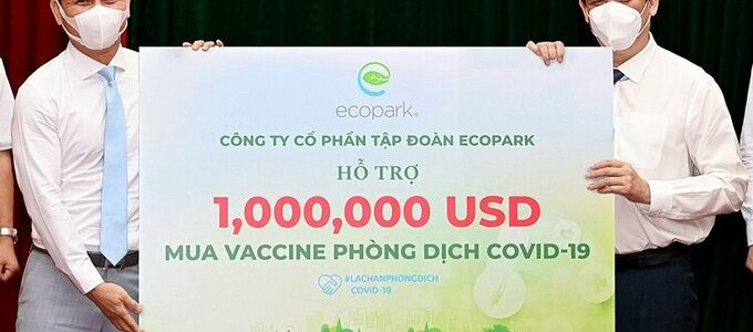 Ecopark hỗ trợ 1 triệu USD mua vaccine phòng Covid-19