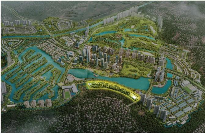 vị trí Swanlake Residences – The Onsen Ecopark